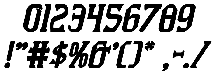 Fiddler's Cove Bold Italic Font OTHER CHARS