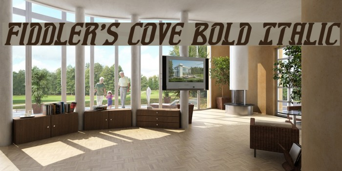 Fiddler's Cove Bold Italic Font examples