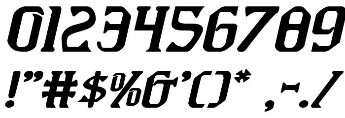 Fiddler's Cove Expanded Italic Font OTHER CHARS