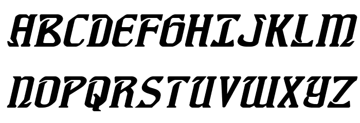 Fiddler's Cove Expanded Italic Font UPPERCASE