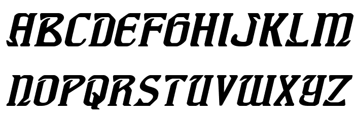 Fiddler's Cove Expanded Italic Font LOWERCASE