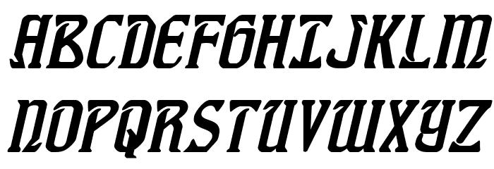 Fiddler's Cove Italic Font UPPERCASE