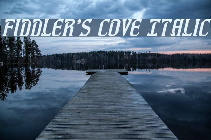 Fiddler's Cove Italic Font examples