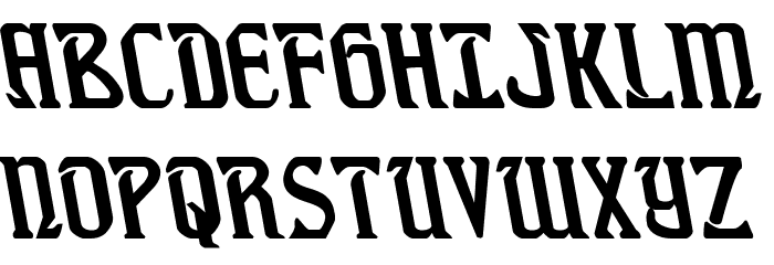 Fiddler's Cove Leftalic Font UPPERCASE
