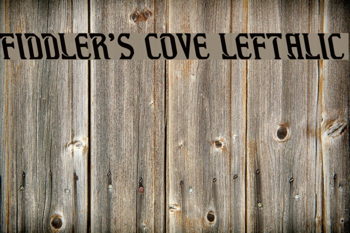 Fiddler's Cove Leftalic Font examples