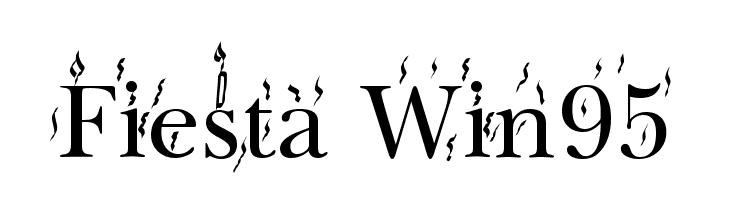 Fiesta Win95  Скачать бесплатные шрифты