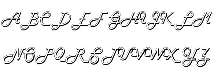 FiftiesHollow Font Litere mari