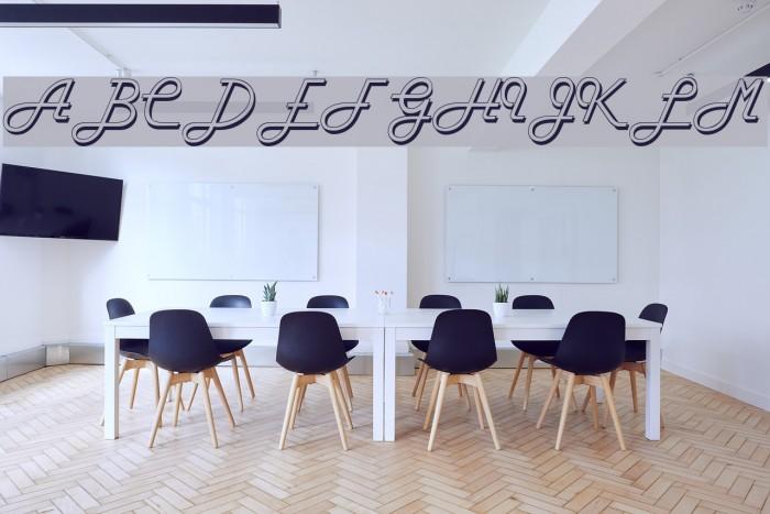 FiftiesHollow Font examples