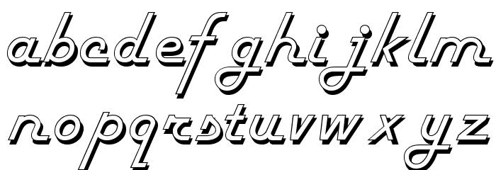 FiftiesHollow Font Litere mici