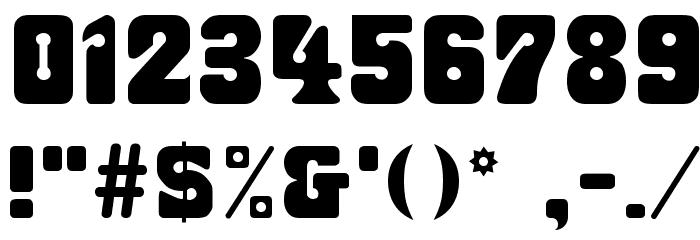 Fillmore Regular Font OTHER CHARS