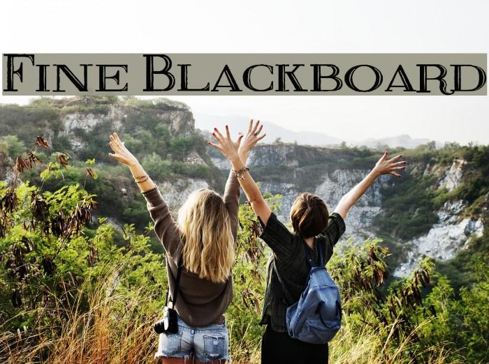 Fine Blackboard Font examples