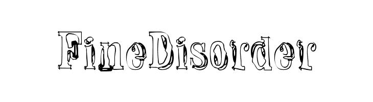Fine Disorder  नि: शुल्क फ़ॉन्ट्स डाउनलोड