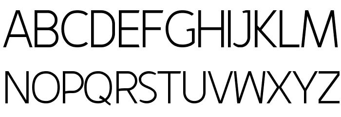 Fineness Light Font UPPERCASE