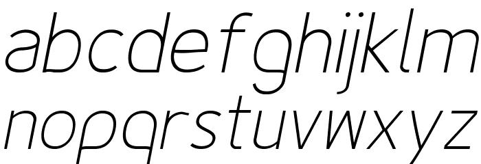 Fineness Pro ExtraLight Italic フォント 小文字