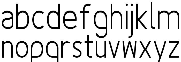 Fineness Pro Light Cond Font LOWERCASE