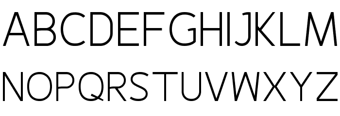 Fineness Pro Light फ़ॉन्ट अपरकेस