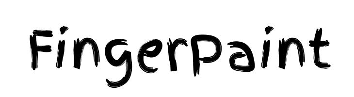 FingerPaint  font caratteri gratis