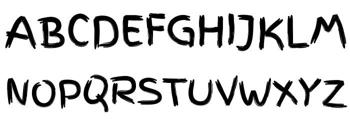 FingerPaint Font UPPERCASE