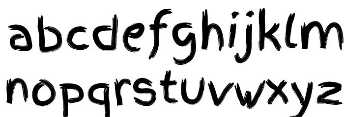 FingerPaint Font LOWERCASE