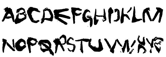 FingerType फ़ॉन्ट अपरकेस
