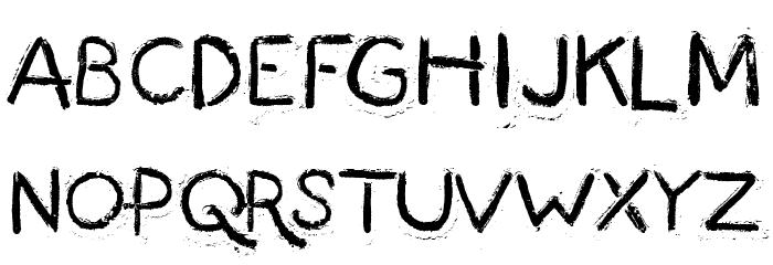 Fingermade फ़ॉन्ट अपरकेस