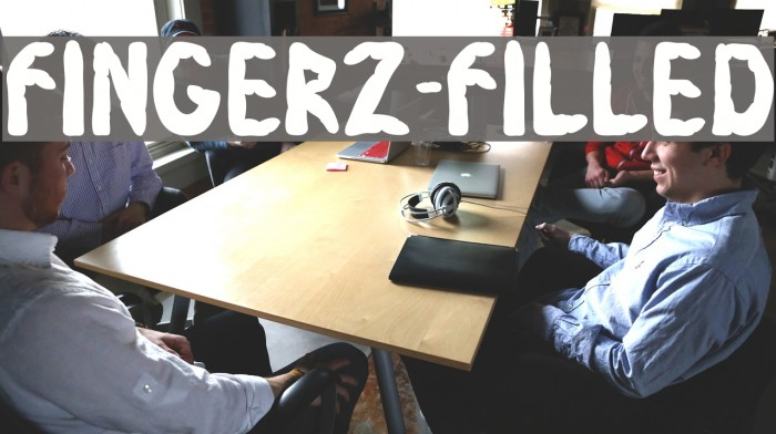 Fingerz-Filled Font examples