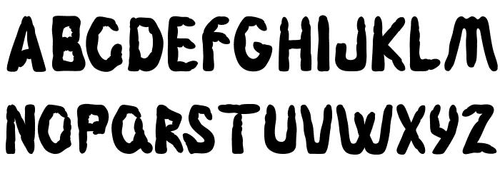 Fingerz-Filled Font LOWERCASE
