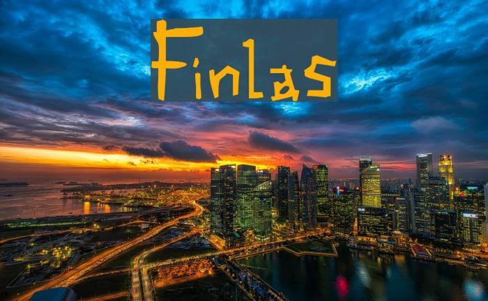 Finlas Font examples