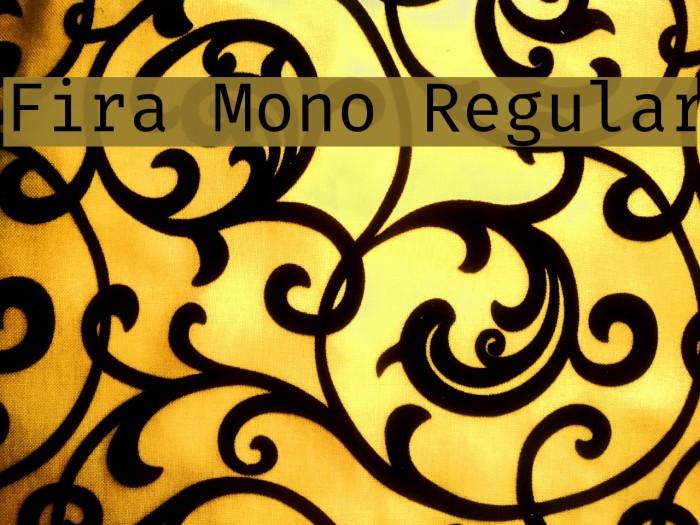 Fira Mono Regular Font - free fonts download