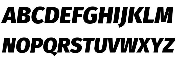 Fira Sans Black Italic Font UPPERCASE
