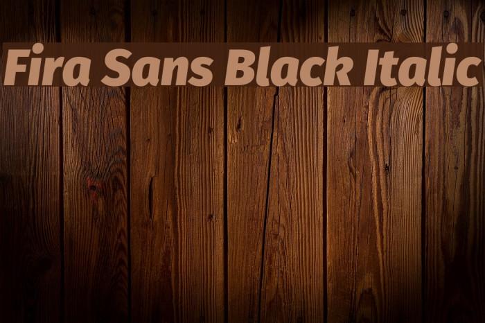 Fira Sans Black Italic Font examples