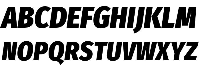 Fira Sans Condensed Heavy Italic Polices MAJUSCULES