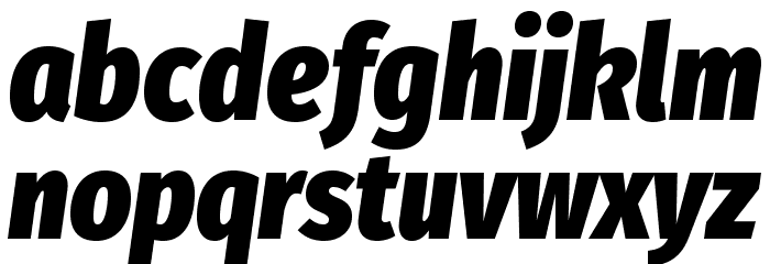 Fira Sans Condensed Heavy Italic Polices MINUSCULES