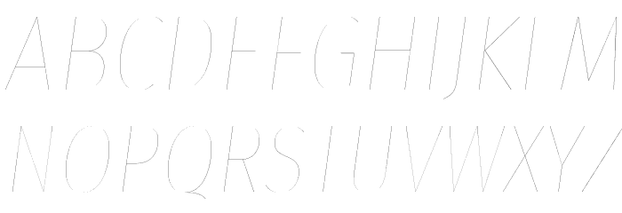 Fira Sans Condensed Two Italic Polices MAJUSCULES