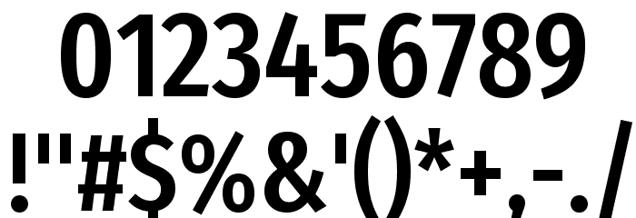 Fira Sans Extra Condensed Medium Font OTHER CHARS