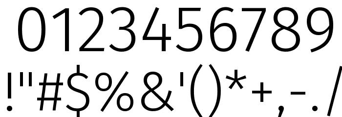 Fira Sans Light Font OTHER CHARS