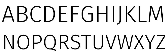 Fira Sans Light Font UPPERCASE