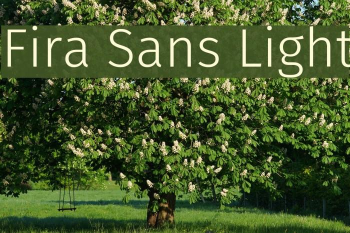 Fira Sans Light Font examples