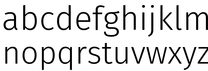 Fira Sans Light Font LOWERCASE