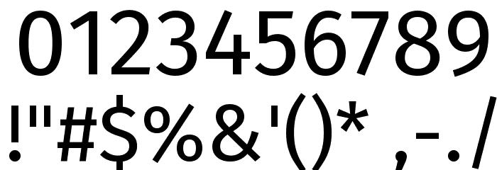 Fira Sans Font OTHER CHARS