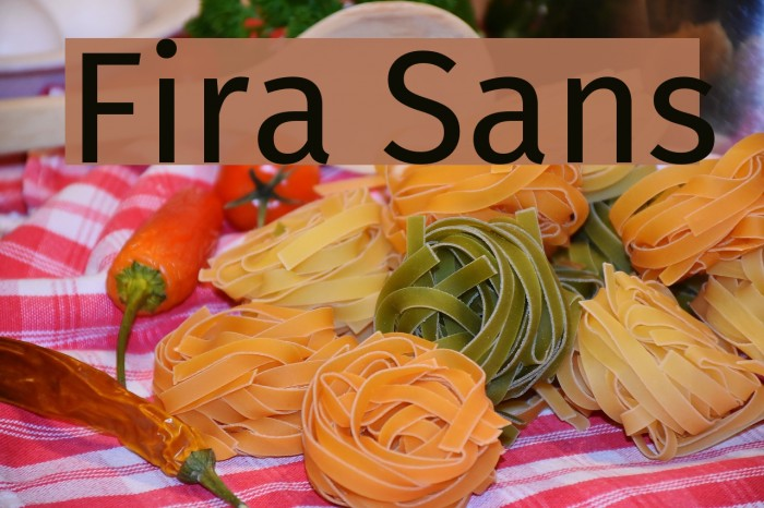 Fira Sans Font examples