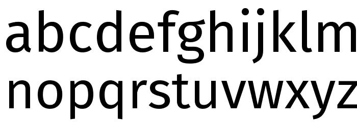 Fira Sans Font LOWERCASE