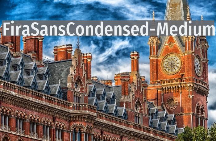 FiraSansCondensed-Medium Polices examples