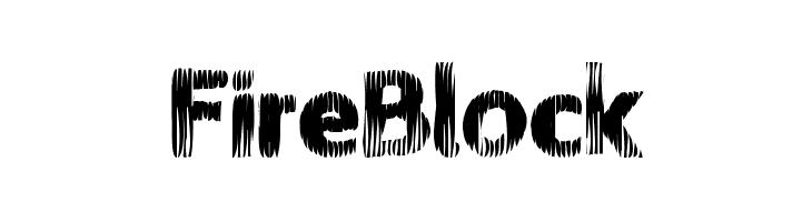 FireBlock  font caratteri gratis
