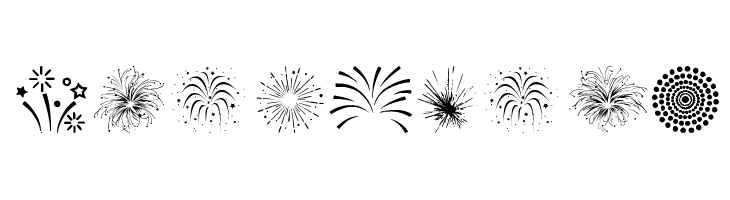 Fireworks  Fuentes Gratis Descargar