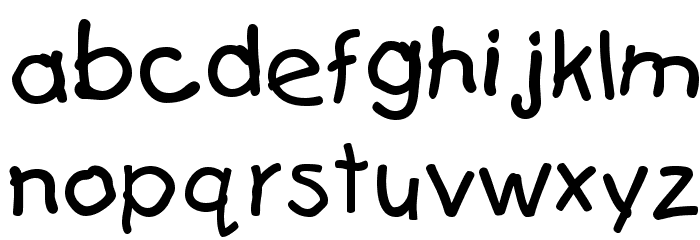 First Grader Font LOWERCASE