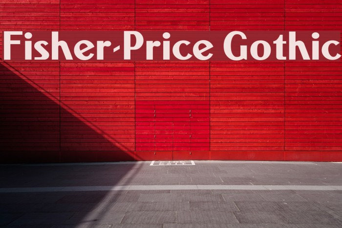 Fisher-Price Gothic Font examples