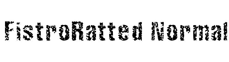 FistroRatted Normal  Скачать бесплатные шрифты
