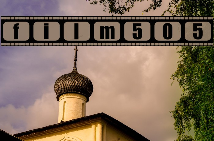 film505 Font examples