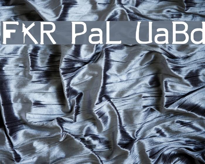 FKR ParkLife UltraBold Fonte examples